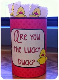 Little Minds at Work: Are you the lucky duck? {a classroom management FREEBIE}