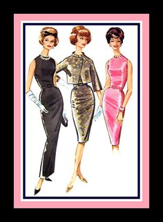 Vintage 1961 PAULINE TRIGERE ORIGINAL by FarfallaDesignStudio, $125.00
