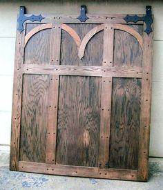 Medieval Interior Barn Door by Rocky Mountain Wildlife Furniture