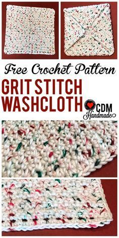 Check out this quick and easy FREE crochet washcloth pattern for my Grit Stitch Crochet Washcloth. This is a great beginner pattern that is easy to learn!