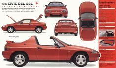 honda del sol - I owned a 1993 black one; had it for 19 years before selling it! Well worth it!!