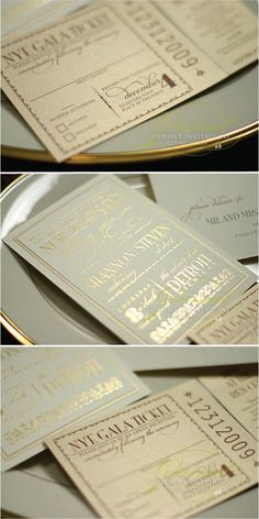Gold on this ivory/cream card is elegant and saves $$ since you don't need more ink or paper colors