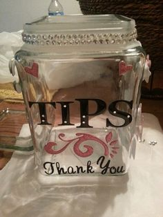 Tip Jar Ideas o... Hand Painted Wine Glasses Diy