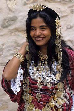 Africa | Bride in ceremonial dress.  Chenini, Tataouine Governorate, Tunisia | ©Photononstop