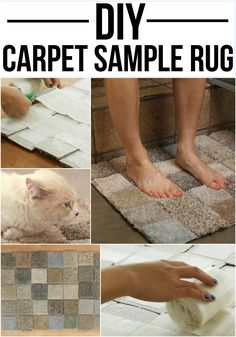 Make a rug out of carpet samples and tape!
