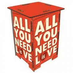 Werkhaus Shop - Photohocker 255 - All you need is love
