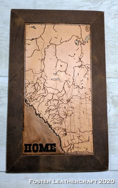 Scale Map, Unique Gifts, Best Gifts, Third Anniversary, Custom Map, Leather Craft, The Fosters, Hand Carved, Carving