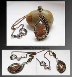 Edana- wire wrapped necklace by mea00 on deviantART