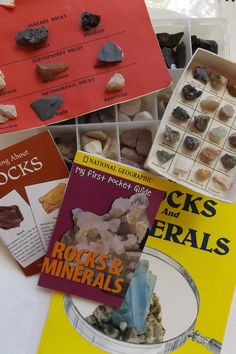 Discover ROCKS and MINERALS Activity Book and by Crozroadz on Etsy