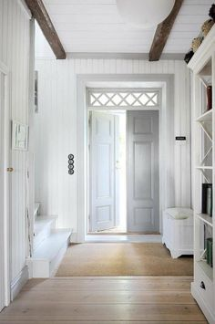 Image result for gray trim white walls