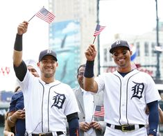 Photos from Jose Iglesias and Leonys Martin being sworn in as United States Citizens. Detroit Sports, Detroit Tigers, Citizen, Baseball