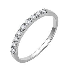 10k White Gold Wedding Diamond Ring Band 017 Carat *** Details can be found by clicking on the image.