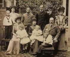 FIVE KINGS AND 3 QUEENS — all in one family!  EDWARD VII, GEORGE V, EDWARD VIII, GEORGE VI, THE KING OF NORWAY  –THE KINGS  QUEEN ALEXANDRA, QUEEN MARY, AND QUEEN MAUD –THE QUEENS