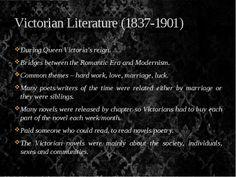 Victorian Literature (1837-1901)                                    Click to read better.