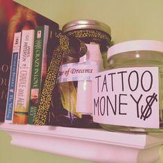 jar of dreams and tattoo money saving jar.