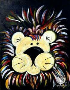 painting with a twist lion
