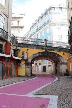 "Rua Nova do Carvalho ""The Pink Street"", Lisbon - Map of Joy Portugal, art, world, travel"