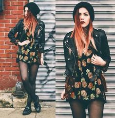 Adorable pineapple dress is surprisingly adorable! Grunge Outfits, Fall Outfits, Fashion Outfits, Mode Grunge, Grunge Look, Grunge Style, Grunge Girl, 90s Grunge, Alternative Mode
