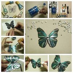 Instead of throwing away your plastic bottles, turn them into a fun craft project —make beautiful, realistic butterflies .  Step by step ---> http://wonderfuldiy.com/wonderful-diy-butterfly-from-plastic-bottles/