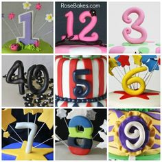 How to Make Fondant Number Cake Toppers - Мастер-классы по украшению тортов Cake Decorating Tutorials (How To's) Tortas Paso a Paso Number Cake Toppers, Fondant Cake Toppers, Number Cakes, Fondant Icing, Fondant Figures, Cupcake Cakes, Marshmallow Fondant, Mini Cakes, Cupcake Toppers