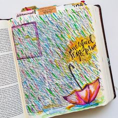 Journaling The Circle Maker in my Journaling Bible Journailing Bible Art Growing Meadows Tai Bender Stamps Clear Stamps Stamping Christian Stamps Bible Notes, My Bible, Bible Art, Bible Verses, Scriptures, Faith Bible, Book Art, Journal D'art, Bible Journal