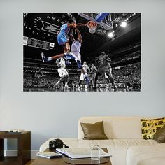 Kevin Durant Dunk Mural - Oklahoma City Thunder - NBA