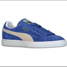 finest selection f6b94 73df2 Puma Shoes   Blue Suede Pumas   Color  Blue   Size  8.5