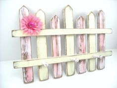 Childs hanging coat rack or jewelry rack pink and antique by westmountaincrafts Coat And Hat Rack, Diy Coat Rack, Hat Racks, Hanging Coat Rack, Vintage Umbrella, Jewelry Rack, Clothes Hooks, Second Hand Stores, Diy Wall Shelves