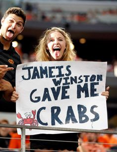 The Best Football Game Day Signs in Football Game Day Signs Are Getting More Creative Photos) . 25 of the Best ESPN College Gameday Signs Ever. College Gameday Signs, The 33, Fan Signs, School Spirit, Espn, Football, Games, Mistakes, Funny