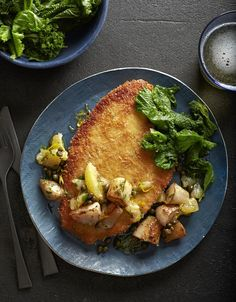Mike Lata's Recipe for Triggerfish Schnitzel With Sunchokes and Greens