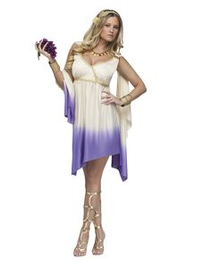 In Roman mythology Goddess Diana was the goddess of the hunt and the moon. He'll be over the moon at the sight of you in this stunning purple ombre adult women's Goddess Diana costume, and why not - you are worth the hunt.