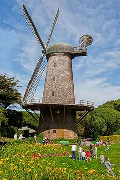 Windmill in Golden Gate Park, San Francisco, California