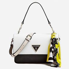 Defined by its chic grained finish and signature logo detailing the Analise Satchel Bag is a classic Guess piece Black Tote, Black Backpack, Irish Pottery, Satchel Bag, Crossbody Bag, Popular Handbags, Quilted Handbags, Guess Handbags, Guess Bags