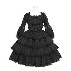 New Black Gothic French Maid Cosplay Costumes Halloween Dress yiruisi http://www.amazon.com/dp/B00LUV5SVE/ref=cm_sw_r_pi_dp_LtCvub1VN9PFH