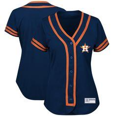 Houston Astros Majestic Women's Absolute Victory Fashion Team Jersey - Navy/Orange