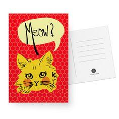 Cartão Miau de @jurumple   Colab55
