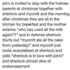 Sherlock is in love with John! Sherlock Bbc, Sherlock Fandom, Jim Moriarty, Sherlock Quotes, Sherlock Holmes John Watson, Benedict Sherlock, Gay, Baker Street, Martin Freeman