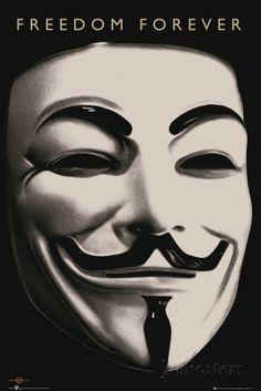 V for Vendetta-Mask Poster bei AllPosters.de