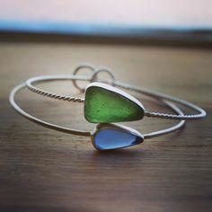 bangles #seaglass # #samsondesign #bracelet