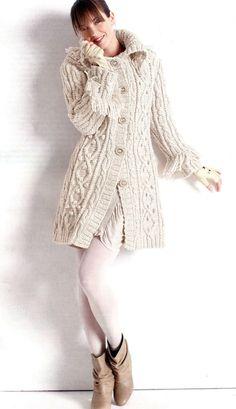 Вязаное пальто с жгутами (спицы). Обсуждение на LiveInternet - Российский Сервис Онлайн-Дневников