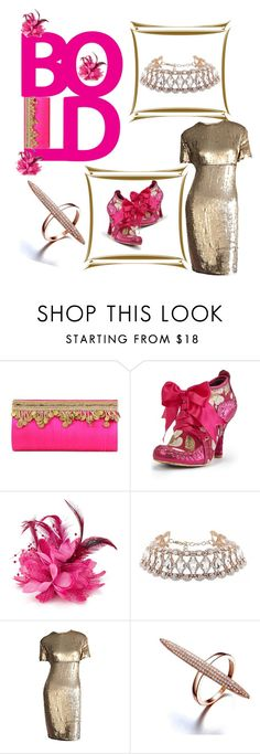 """""""Bold & Gold"""" by bodykandycouture ❤ liked on Polyvore featuring NOVICA, Irregular Choice and Calvin Klein"""