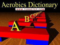Step Aerobics Dictionary with animated images for . Step Aerobic Workout, Aerobics Workout, Step Aerobics, Basic Yoga, Fun Workouts, Walking Workouts, Dance Workouts, Exercise Routines, Outdoor Workouts