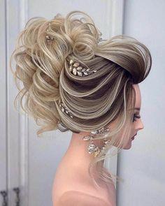 102 Beautiful Wedding Hairstyles And Bridal Hair Ideas Long Hair Wedding Styles, Elegant Wedding Hair, Wedding Hairstyles For Long Hair, Down Hairstyles, Girl Hairstyles, Braided Hairstyles, Perfect Wedding, Short Hair, Bridal Hair Buns