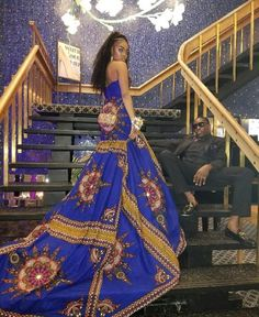African Prom Dresses, African Wedding Dress, African Fashion Dresses, African Attire, African Wear, African Women, African Dress, African Print Fashion, Africa Fashion