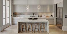 Kitchen Layout Options   Home Ideas Elegant Kitchens, Luxury Kitchens, Beautiful Kitchens, Galley Kitchens, Contemporary Kitchen Island, Modern Kitchen Lighting, Luxury Kitchen Design, Interior Design Kitchen, Kitchen Designs Photos