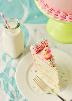 This is THE BEST vanilla cake/frosting I've ever had. I usually prefer chocolate to vanilla, and I made this cake tonight - it rocked my world!!!