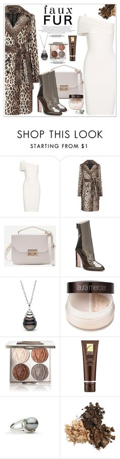 """""""Faux Fur Coats"""" by selmir ❤ liked on Polyvore featuring Michelle Mason, adidas, Laura Mercier, Chantecaille, Oscar Blandi and fauxfurcoats"""