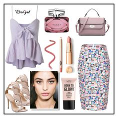 """ROSEGAL"" by samed-85 ❤ liked on Polyvore featuring Gucci and NYX"
