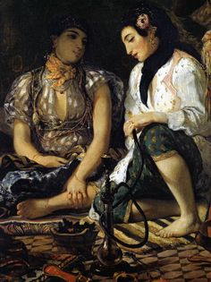 The Women of Algiers (detail), Eugene Delacroix. French Romantic Painter (1798-1863)