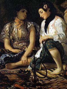 Eugène Delacroix (French, 1798-1863). The Women of Algiers (detail), 1834. Musée du Louvre, Paris